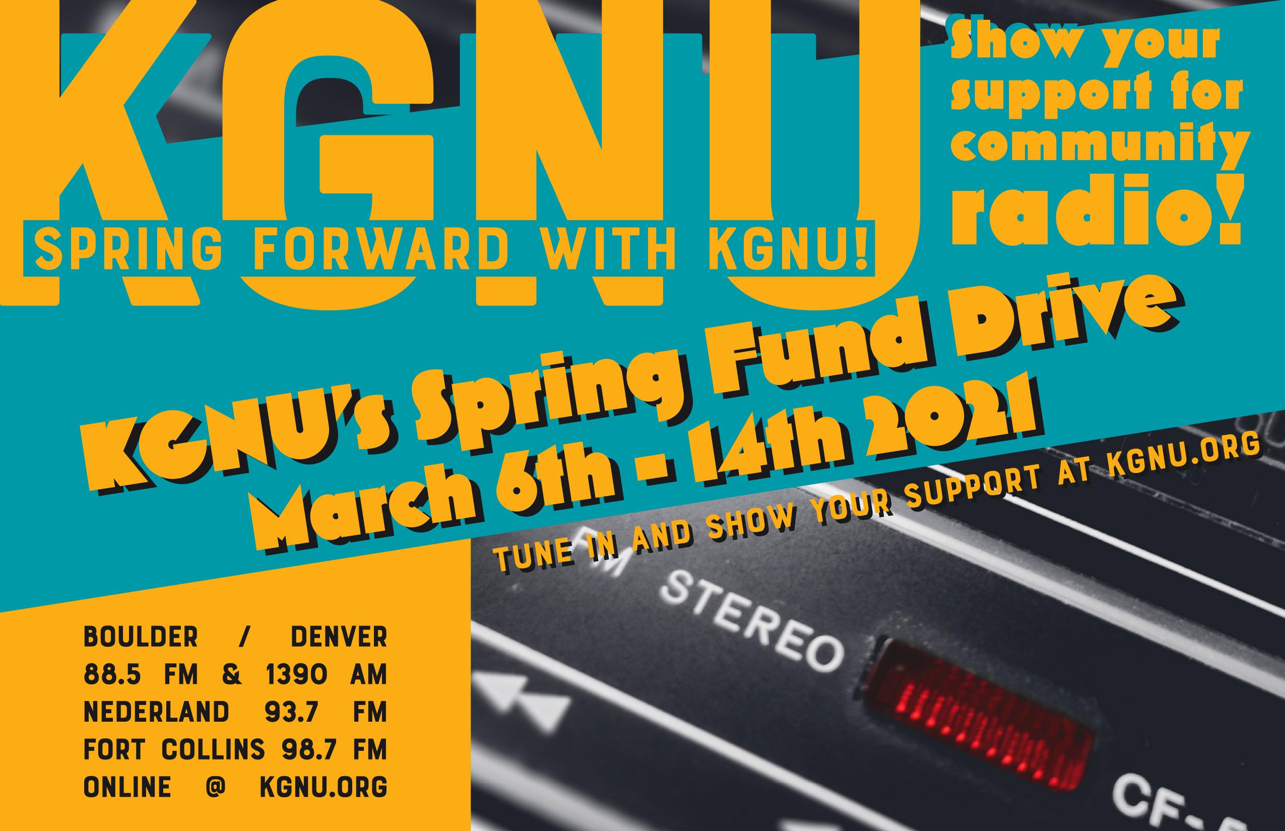 KGNU Fund Drive Music Specials - Spring 2021