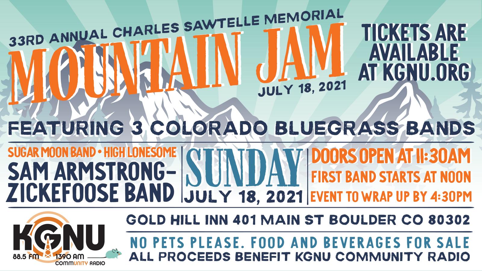 The Charles Sawtelle Memorial Mountain Jam 2021
